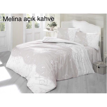 Altinbasak евро с простынью на резинке Melina açik kahve
