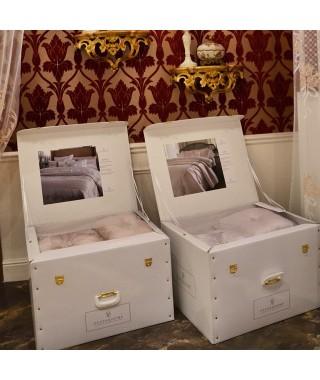 Изысканное покрывало с наволочками и подушками Pepper Home, 270*260 см, Athena bej