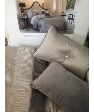 Изысканное покрывало с наволочками и подушками Pepper Home, 270*260 см, Elizabeth gri