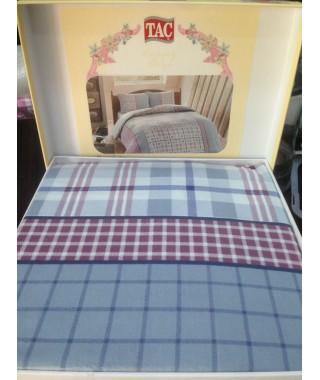 Байковое постельное белье TAC Grey mavi