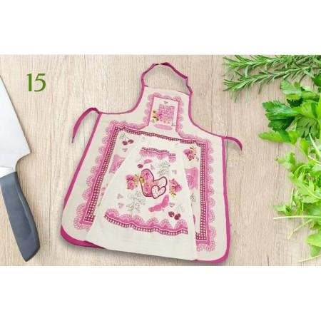 Фартук кухонный Akipek + полотенце, Hearts