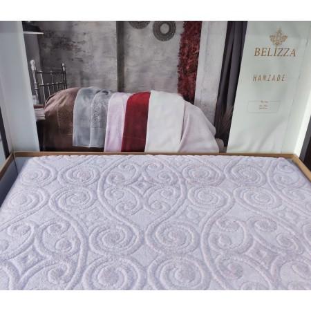 Махровая простынь Belizza, евро, 200*220, вензель, Lilac