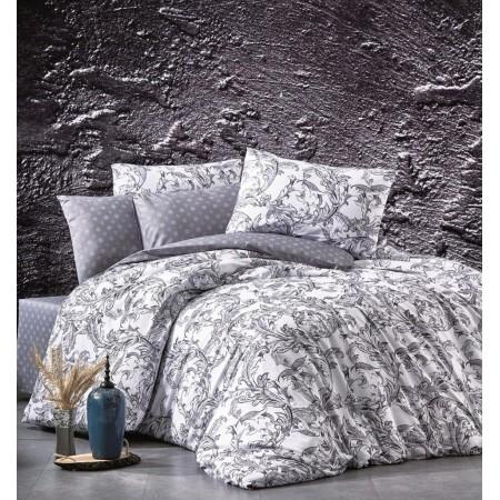 Байковое постельное белье сатин-бамбук Belizza 160*220 Aurora Grey