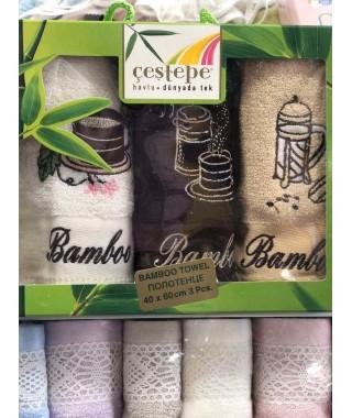 Набор бамбуковых полотенец Cestepe Bamboo 3 штуки