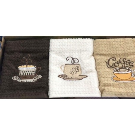 Набор бамбуковых полотенец Cestepe Coffee 3 штуки
