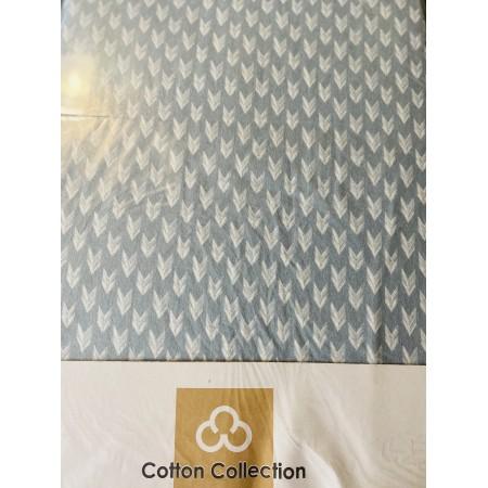 Комплект простынь на резинке с 2 наволочками 50*70 Cotton Collection Check Mark