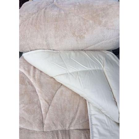 Двустороннее теплое одеяло покрывало Evibu Bej 155*215