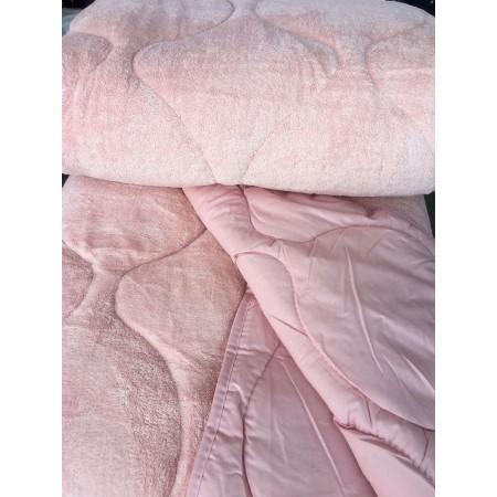Двустороннее теплое одеяло покрывало Evibu Pink 155*215