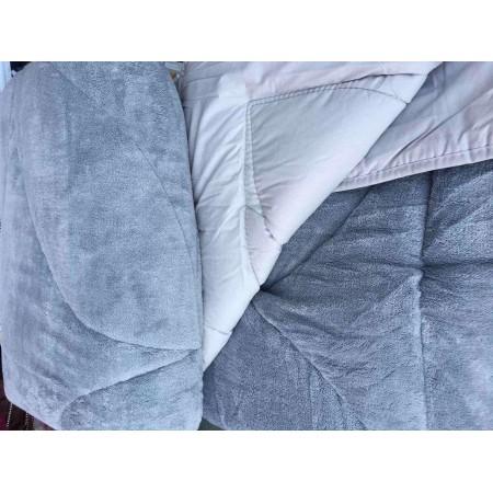 Двустороннее теплое одеяло покрывало Evibu Grey 155*215