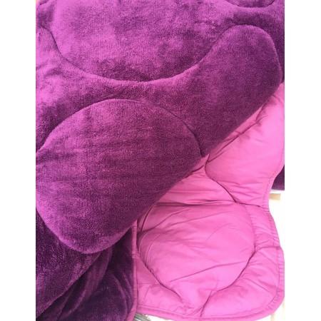 Двустороннее теплое одеяло покрывало Evibu Violet 155*215