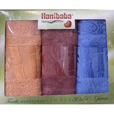 Набор кухонных бамбуковых полотенец Hanibaba 50*30 3 шт Rainbow