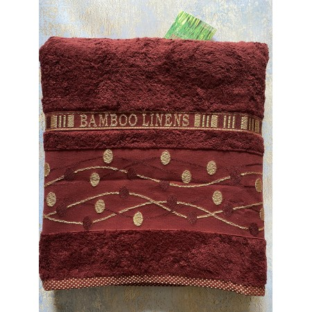 Банное бамбуковое полотенце Hanibaba Bamboo Linens Red 100*150
