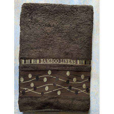 Банное бамбуковое полотенце Hanibaba Bamboo Linens Brown 100*150