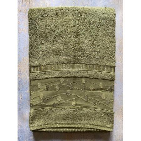 Банное бамбуковое полотенце Hanibaba Bamboo Linens Olive 100*150