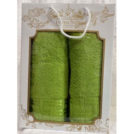 Комплект полотенец Лицевое + Банное Issi Home Green