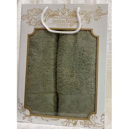 Комплект полотенец Лицевое + Банное Issi Home Olive