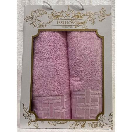 Комплект полотенец Лицевое + Банное Issi Home Pink