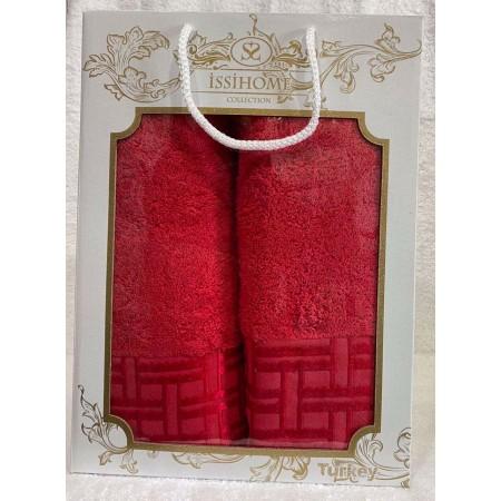 Комплект полотенец Лицевое + Банное Issi Home Red