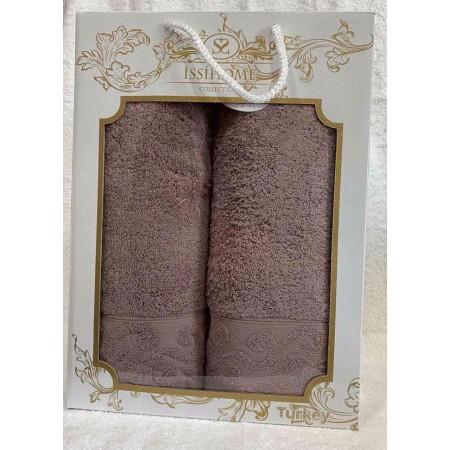 Комплект полотенец Лицевое + Банное Issi Home Chocolate