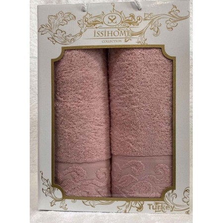 Комплект полотенец Лицевое + Банное Issi Home Rose