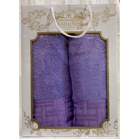 Комплект полотенец Лицевое + Банное Issi Home Violet