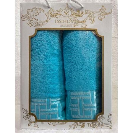 Комплект полотенец Лицевое + Банное Issi Home Blue