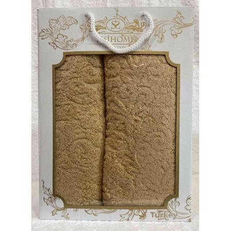 Комплект полотенец Лицевое + Банное Issi Home Camel pattern