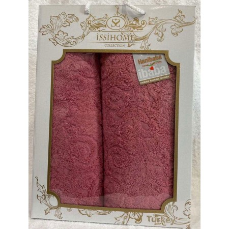 Комплект полотенец Лицевое + Банное Issi Home Crimson pattern