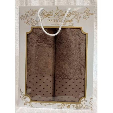 Комплект полотенец Лицевое + Банное Issi Home Chocolate peas