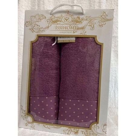Комплект полотенец Лицевое + Банное Issi Home Purple peas
