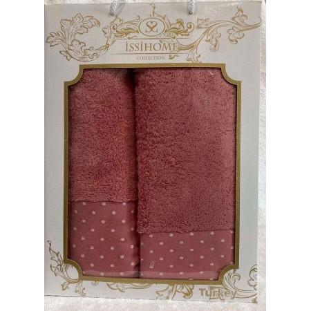Комплект полотенец Лицевое + Банное Issi Home Crimson peas