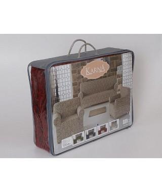 Набор чехлов на трёхместный диван и 2 кресла Karna MILANO (антрацит)