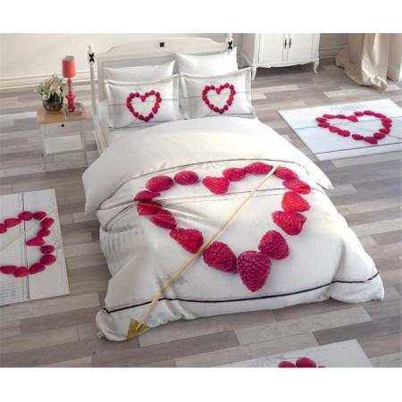 Постельное белье + набор ковриков Le Jardin 3D White