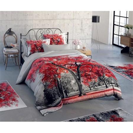Постельное белье + набор ковриков Le Jardin 3D Berceste