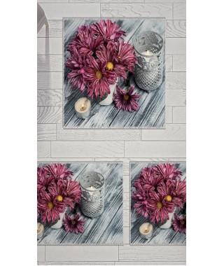 Постельное белье + набор ковриков Le Jardin 3D Daisy