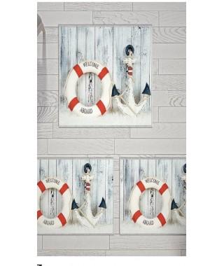 Постельное белье + набор ковриков Le Jardin 3D Anchor