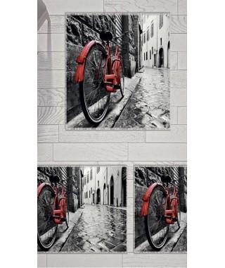 Постельное белье + набор ковриков Le Jardin 3D Grey