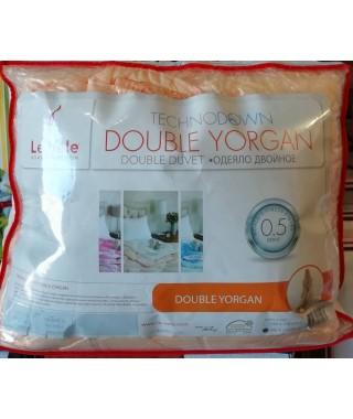 Одеяло антиаллергенное на кнопках Le Vele Double Yorgan Green 155*215