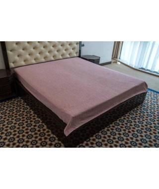 Махровая простынь Hanibaba, модель Brusk, 160*220 (тёмно-розовый)