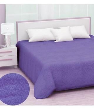 Махровая простынь Hanibaba, модель Brusk, 160*220 (фиолетовый)