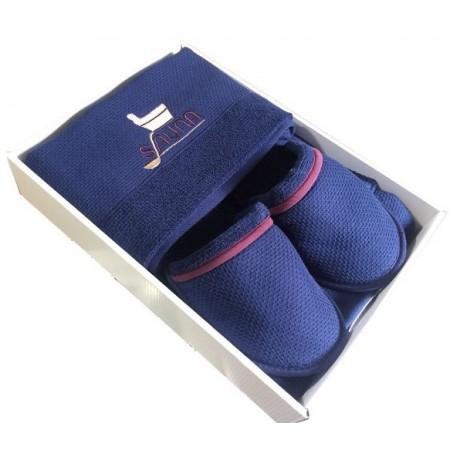 Мужской набор для бани и сауны Maison D'or Sauna Dufour синий