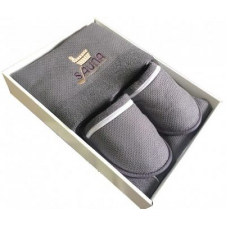 Мужской набор для бани и сауны Maison D'or Sauna Dufour серый