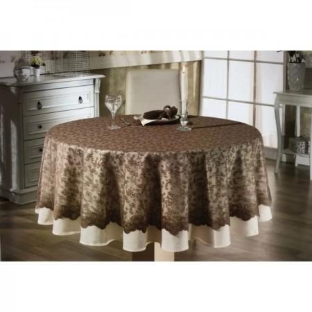 Скатерть Maison D'or Tul Masa 180 см + салфетки 6 шт Кофе