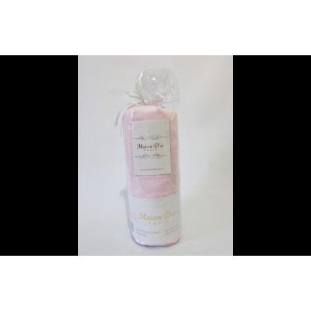 Простынь на резинке MAISON D'OR Сатин + 2 наволочки (розовый)