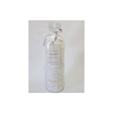 Простынь на резинке MAISON D'OR Сатин + 2 наволочки (белый)