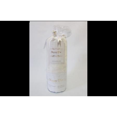 Простынь на резинке MAISON D'OR Сатин + 2 наволочки (крем)