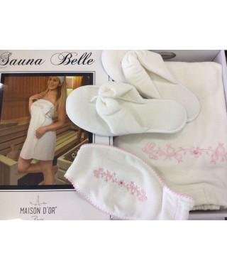 Женский набор в сауну/душ Maison D'or Bella кремовый