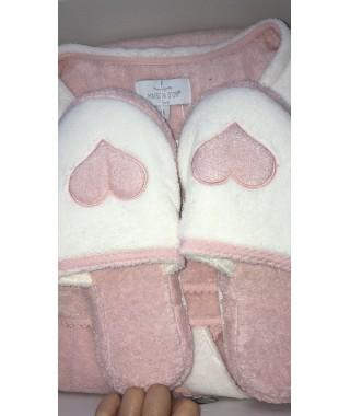 Женский халат MAISON D'OR MONIQUE + тапочки (розовый)