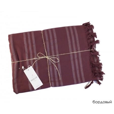 Полотенце с бахромой 100x200 Violetta Maison D'or (Бордовый)