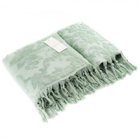 Набор из двух махровых полотенец Maison D'or Sanda 50х100 см + 85х150 см, зеленый